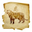 Tiger Zodiac icon, isolated on white bac — Stock Photo