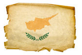 Cyprus flag old, isolated on white backg — Stock Photo