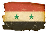 Syrian Flag old, isolated on white backg — Stock Photo