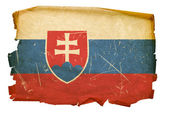 Slovakia Flag old, isolated on white bac — Stock Photo