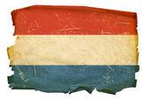 Luxemburg Flag old, isolated on white ba — Stock Photo