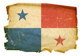 Panama Flag old, isolated on white backg — Stock Photo