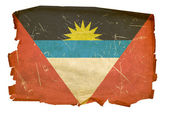 Antigua and Barbuda Flag old, isolated o — Stock Photo