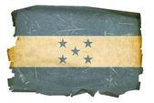 Honduras Flag old, isolated on white bac — Stock Photo