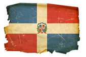 Dominican Republic Flag old, isolated on — Stock Photo