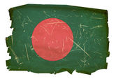 Bangladesh Flag old, isolated on white b — Stock Photo