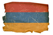 Armenia Flag old, isolated on white back — Stock Photo