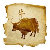 Ox Zodiac icon, isolated on white backg — Stock Photo