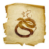 Snake Zodiac icon, isolated on white ba — Stock Photo