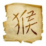 Monkey Zodiac icon, isolated on white b — Stock Photo #1280046