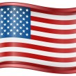Royalty-Free Stock Vector Image: USA flag icon