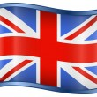 Stock Vector: United Kingdom Flag Icon
