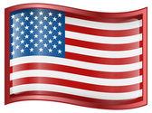 米国の旗のアイコン — ストックベクタ