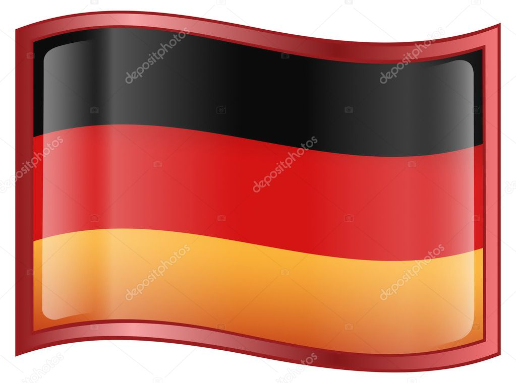 Germany Flag Icon, isolated on white background.  Stock Vector #1553913