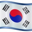 South Korea Flag Icon — Stock Vector #1562410