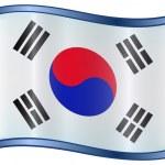 South Korea Flag Icon — Stock Vector