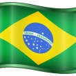 Stock Vector: Brazil Flag Icon
