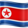 Vector de stock : Northern Korea Flag Icon