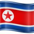 Severní korea ikona příznaku — Stock vektor