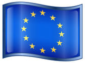 Europe Flag Icon — Vettoriale Stock
