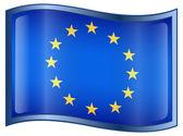 Icono de la bandera de europa — Vector de stock