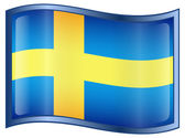 Sweden Flag Icon — Vetorial Stock