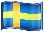 瑞典国旗图标 — 图库矢量图片