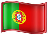 Portugal Flag Icon — Stock Vector