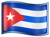 Cuba Flag Icon — Stock Vector