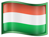 Hungary Flag Icon — Stock Vector