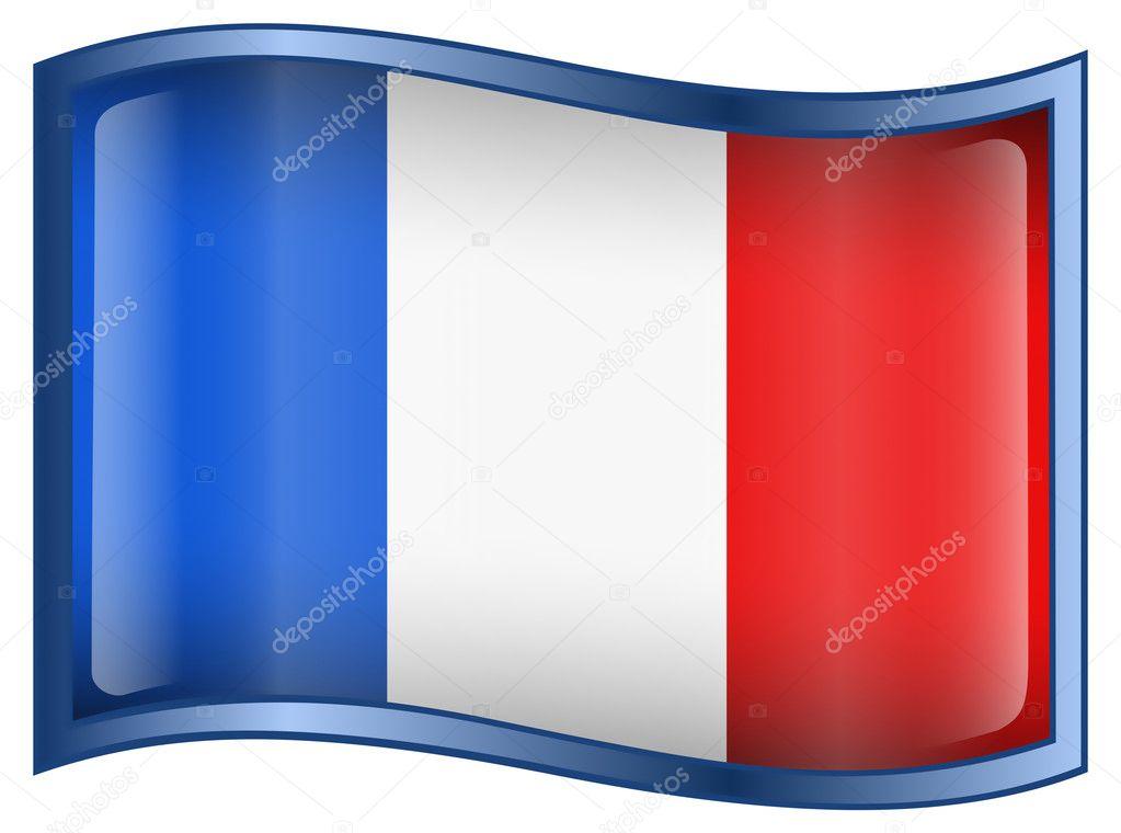 法国国旗图标 — 图库矢量图片