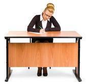 ビジネスの女性は、レトロです — ストック写真