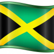 Jamaica Flag Icon — Stock Vector