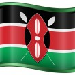 Kenya Flag Icon. - Grafika wektorowa