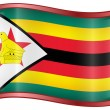 Stock Vector: Zimbabwe Flag Icon