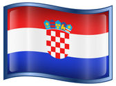 Croatia Flag Icon — Stock Vector