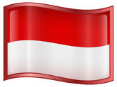 Indonesia Flag Icon — Stock Vector