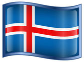 Iceland Flag icon. — Stock Vector