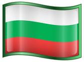 Bulgaria Flag Icon. — Stock Vector