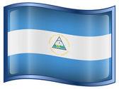 Nicaragua Flag Icon — Stock Vector