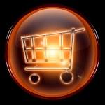 Shopping cart icon orange — Stock Photo #2060016