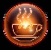šálek kávy ikonu — Stock fotografie