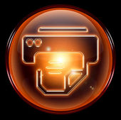 Printer icon orange. — Stock Photo