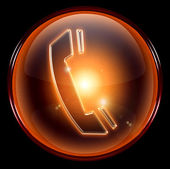 Laranja de ícone de telefone — Foto Stock