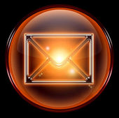 Postal envelope icon orange — Stock Photo