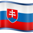 Slovakia Flag icon — Stock Vector