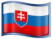 Slovakia Flag icon — Stock Vector