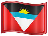 Antigua and Barbuda Flag icon — Stock Vector