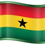 Постер, плакат: Ghana Flag icon
