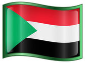 Sudan Flag Icon — Stock Vector